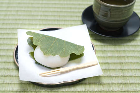 Japanese rice cake 'Kashiwa mochi'