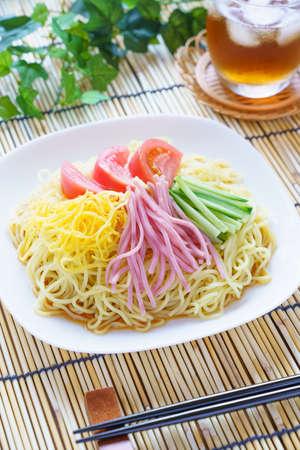 Chilled Chinese noodles, Hiyashi Chuka - Japanese cuisine