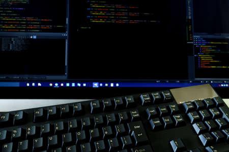 Computer keyboard on work desk Stock fotó
