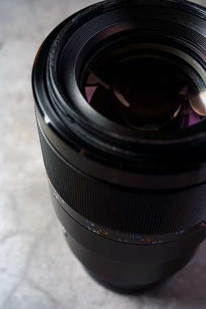 Close up of camera lens Archivio Fotografico