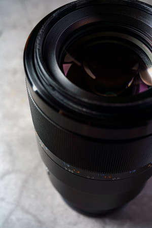 Close up of camera lens Imagens