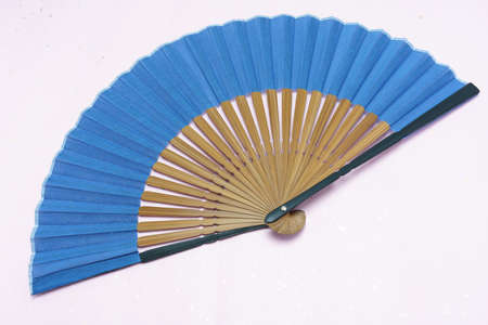 Japanese summer scene with Japanese fan