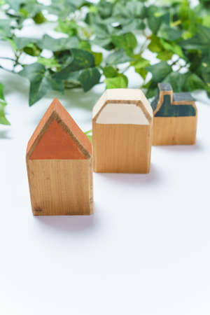 Wooden miniature house