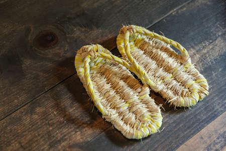 Waraji is Japanese tradtional straw sandals Archivio Fotografico