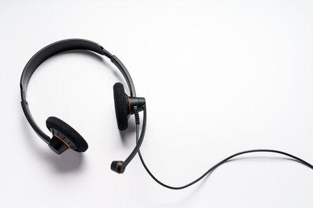 Headset isolated on white background 免版税图像