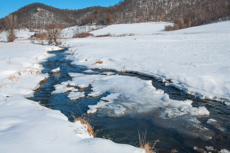 Prairie Stream in Winter photo