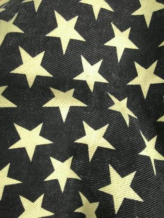 Star pattern on cotton Stock Photo