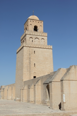 kairouan: Mosque Sidi Okba in Kairouan, Tunisia Stock Photo