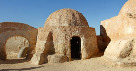 Stage for movie Star Wars in Tunese