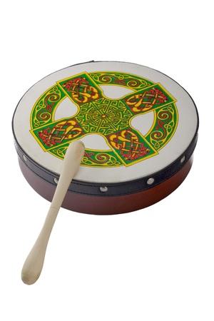 irish culture: Ireland music instrument - small drum Stock Photo