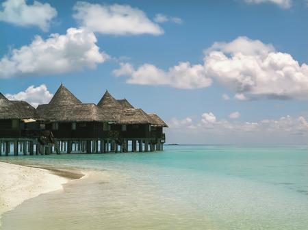 maldives island: Maldives island Dhuni Kolhu, Baa atoll seascape Editorial