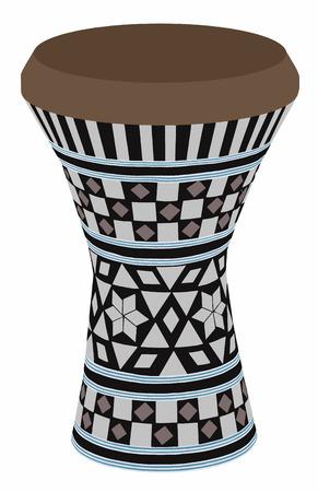darbuka: Egyptian musical instrument Illustration
