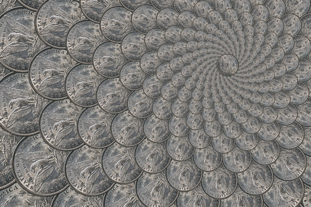 silver coins: Pattern from a silver coins of a Morgan dollar