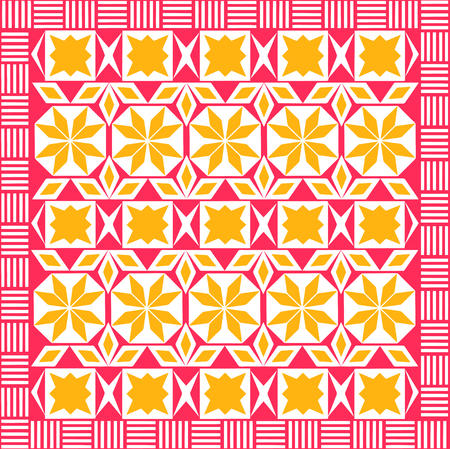 the seamless repeating geometrical pattern on the Arab subject