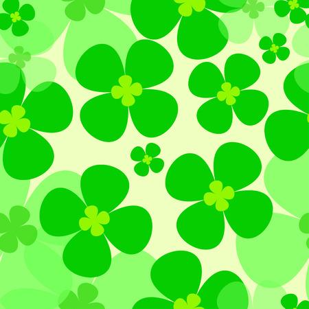 seamless clover: warm green clover, seamless pattern vector