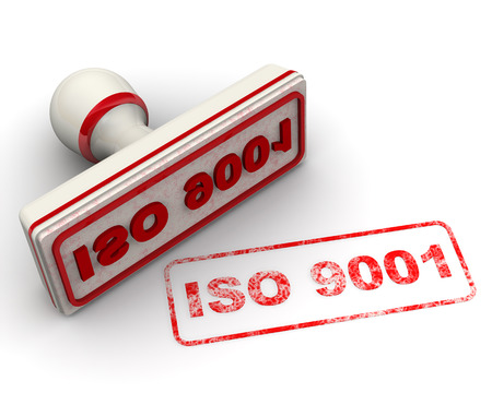 iso: ISO 9001. Seal and imprint