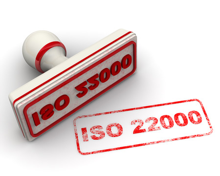 iso: ISO 22000. Seal and imprint
