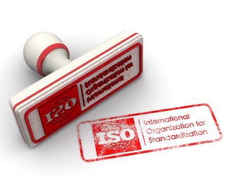 Norm ISO. Seal und Impressum Standard-Bild - 34866840