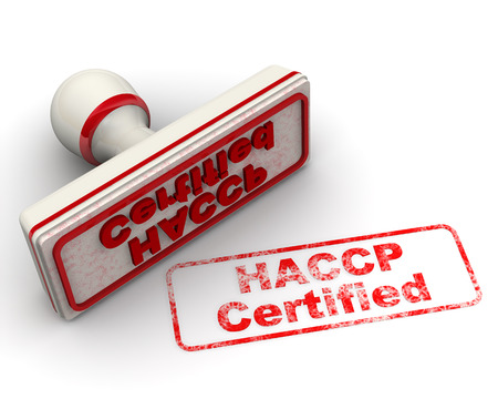 HACCP Certified. Seal and imprint