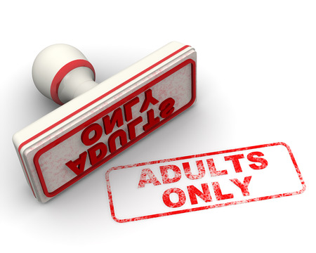 imprint: Adults only. Seal and imprint Stock Photo