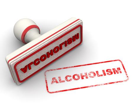 alcoholismo: Alcoholismo. Sello y sello Foto de archivo