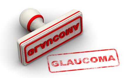glaucoma: Glaucoma. Seal and imprint Stock Photo