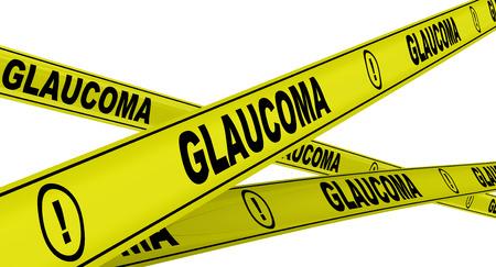 Glaukom. Gelb Warnbänder Standard-Bild - 36985634
