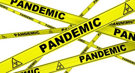pandemic: Pandemic. Yellow warning tapes
