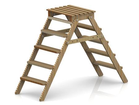 stepladder: Wooden stepladder