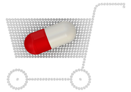 paid medicine: Buying drugs. Concept