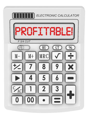 rentable: Rentable. Inscripci�n en la calculadora electr�nica