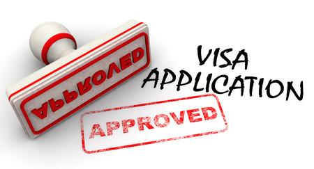 visa approved: Visa application approved. Seal and imprint