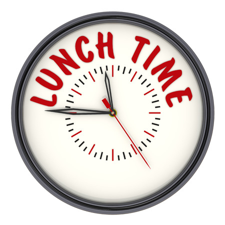 second meal: Lunch time. Watch with inscription