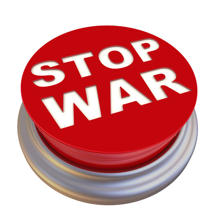labeled: Stop war. Red button labeled