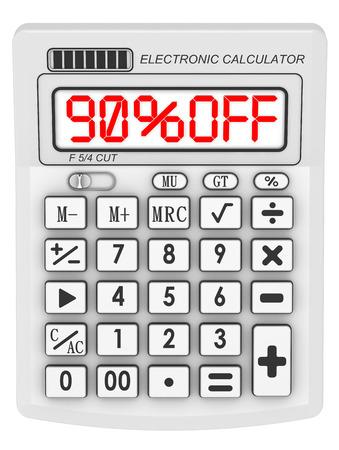 90: Discount 90 percent. Concept