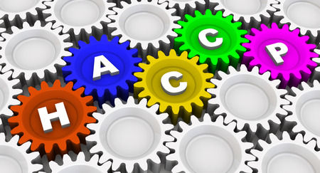abbreviation: Abbreviation HACCP. Word on the gears