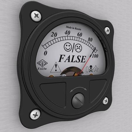 false: Indicator of false Stock Photo
