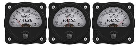 falso: Indicador de la falsa