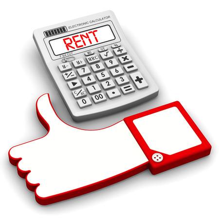 profiting: Bargain rent. Financial concept