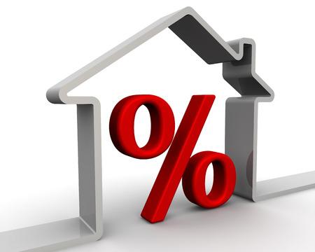 Zinsen für die Hypothek. Konzept Standard-Bild - 40020740
