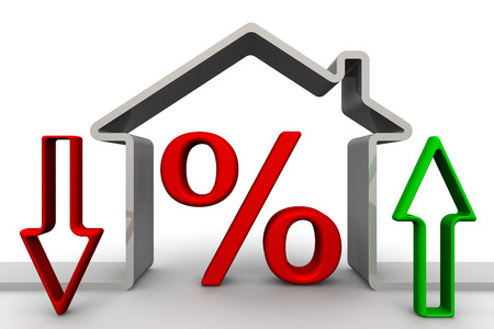 rates: Changes percent on mortgages. Concept