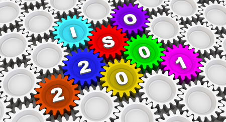 ISO 22001. Abbreviation on the gears