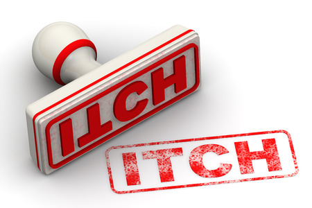 itch: Itch. Seal and imprint Stock Photo