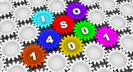 abbreviation: ISO 14001. Abbreviation on the gears