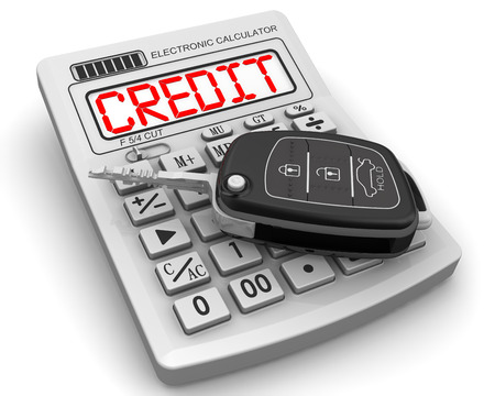 profiting: Car loan. Concept Stock Photo