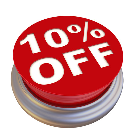 10: 10 percent Off Button Stock Photo