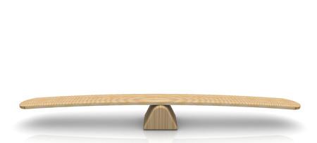 balanza en equilibrio: Escalas en la posición de equilibrio en la superficie del espejo Foto de archivo