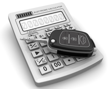 ignition: Ignition Key of the car is on the calculator