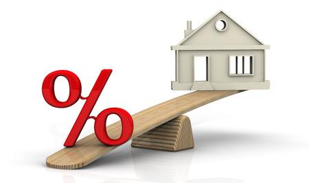 Zinsen für die Hypothek. Konzept Standard-Bild - 41169238