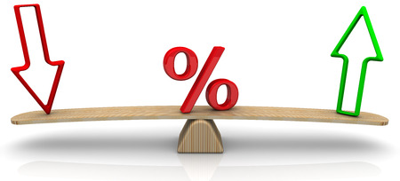 interest rates: Changes in interest rates. Concept Stock Photo